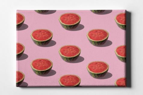 Wassermelonen Hälften Muster Leinwand L0078
