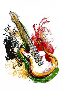 Gitarre Musik Illustration Kunstdruck Poster P0488