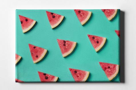 Wassermelonen Scheiben Muster Leinwand L0070