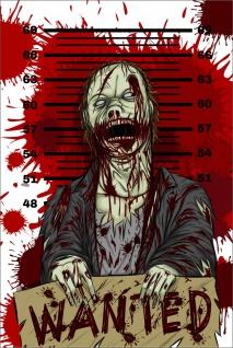 Zombie Mann Comic Kunstdruck Poster P0278
