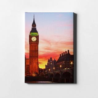 London Sonnenuntergang Big Ben City Leinwand L0414