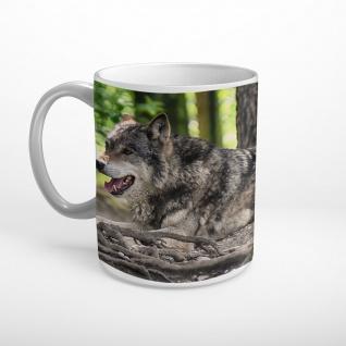 Wolf Wald Natur Tier Tasse T0394