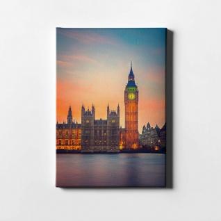 London Big Ben Themse City Leinwand L0424