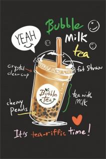 Bubble Tea Rezept Kunstdruck Poster P0298
