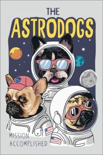 Astrodogs Hunde Astronauten Kunstdruck Poster P0300