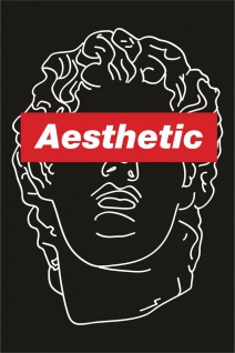 Aesthetic Skulptur Kopf Kunstdruck Poster P0301