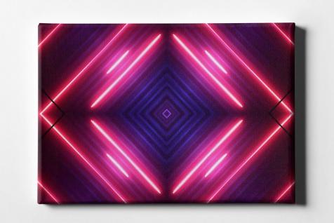 Neon Quadrat Leinwand L0091