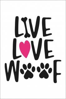 Hundeliebe Pfoten Kunstdruck Poster P0302