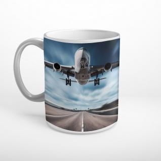 Flugzeug Landung Straße Tasse T0518
