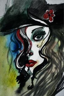 Abstrakt Frau Porträt Kunstdruck Poster P0274