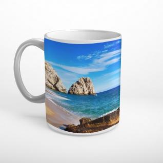 Strand Meer Felsen Tasse T1873