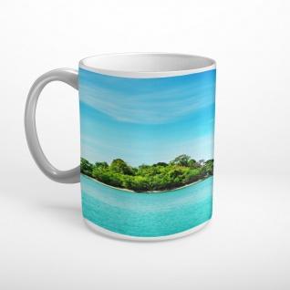 Meer Insel Felsen Tasse T1897