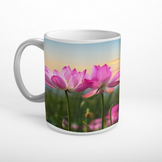 Blüten Blumen Wiese Landschaft Tasse T1814