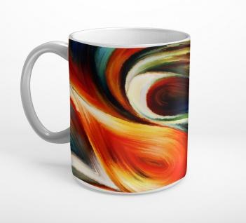 Abstrakt Kunst Bunt Gemälde Tasse T0795