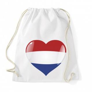 Niederlande Holland Herz Flagge Beutel B0139
