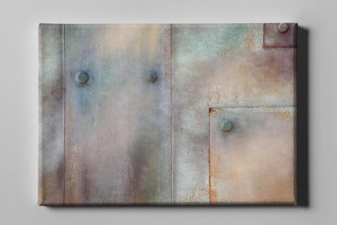 Metall Effekt Nieten Wand Industrial Art Leinwand L0227
