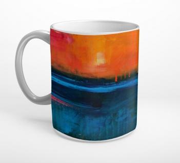 Abstrakt Kunst Sonnenuntergang Meer Tasse T0796