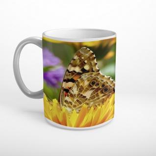 Schmetterling Blüten Blumen Tasse T1602