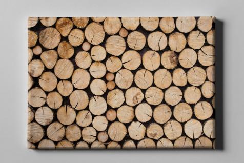 Holzschnitt Baumscheiben geordnet Leinwand L0192