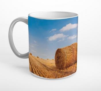 Heuballen Feld Weizen Stroh Landwirtschaft Tasse T0835