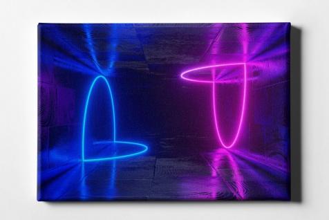 Neon Kreise Leinwand L0104