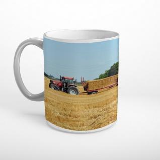Traktor Anhänger Ernte Stroh Tasse T1957