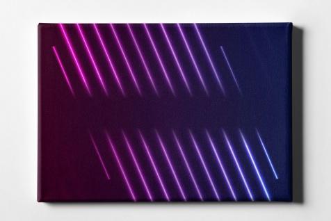 Neon Licht Linien Leinwand L0105
