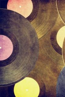 Schallplatten Vinyl Musik Illustration Kunstdruck Poster P0414