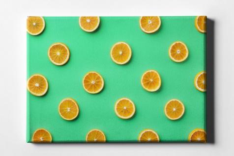 Orangen Frucht Muster Leinwand L0067