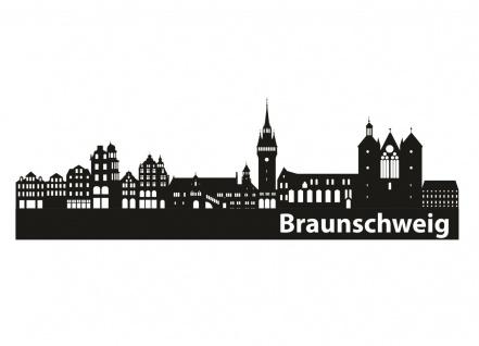 Braunschweig Stadt Skyline Aufkleber A0096