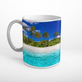 Strand Palmen Meer Insel Tasse T1193