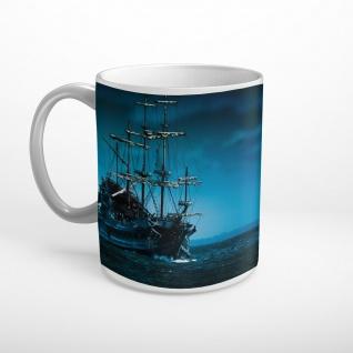 Piratenschiff Seefahrt Vollmond Meer Tasse T1729