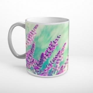 Lavendel Blüten Sonnenschein Tasse T1000