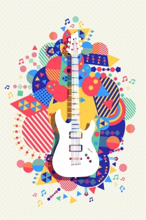 Gitarre Musik Illustration Kunstdruck Poster P0444