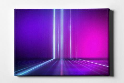 Neon Weißes Licht Leinwand L0103