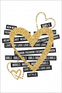 Herz Gold Fashion Kunstdruck Poster P0285