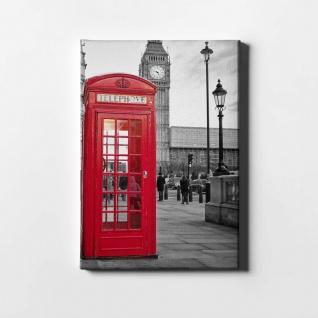 London Telefonzelle Big Ben City Leinwand L0413