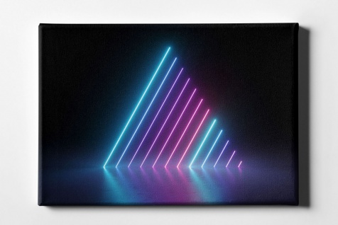 Neon Pyramide Leinwand L0098