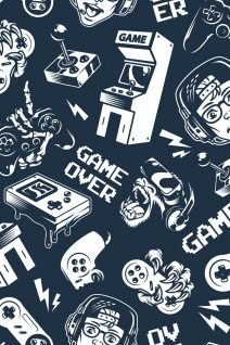 Gaming Icons Retro Kunstdruck Poster P0305