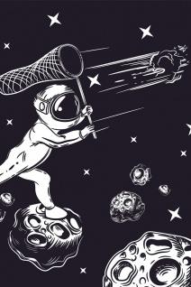 Astronaut Kometen Asteroiden Weltraum Illustration Kunstdruck Poster P0387