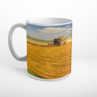 Mähdrescher Ernte Landwirtschaft Tasse T2016
