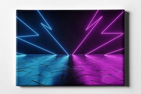 Neon Blitzeinschlag Leinwand L0096