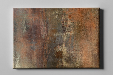 Metall Effekt Rost Braun Industrial Art Leinwand L0223