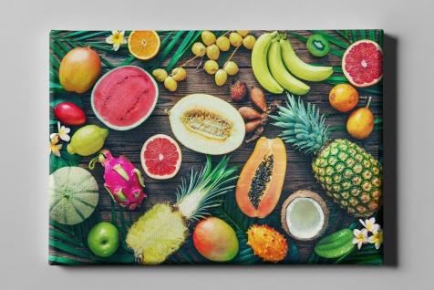 Tropische Früchte Ananas Drachenfrucht Mango Obst Leinwand L0240