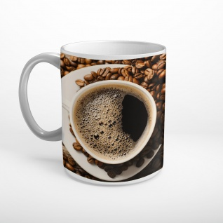 Kaffee Bohnen Aufgebrüht Tasse T1127