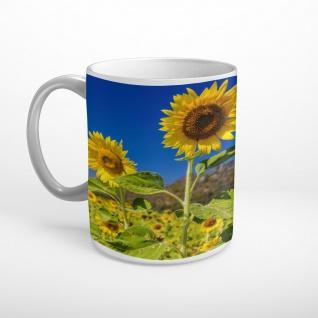 Sonnenblumen Feld Landschaft Blumen Tasse T1818