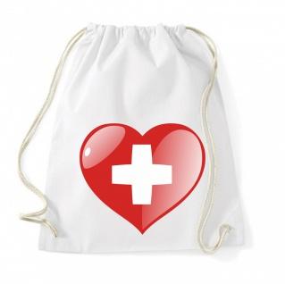 Schweiz Herz Flagge Beutel B0150