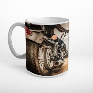 Motorrad Chopper Biker Natur Tasse T2019