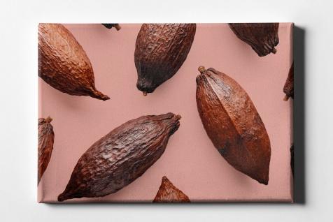 Kakao Bohne Muster Leinwand L0080