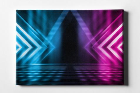 Neon Dreieck Dynamisch Leinwand L0102
